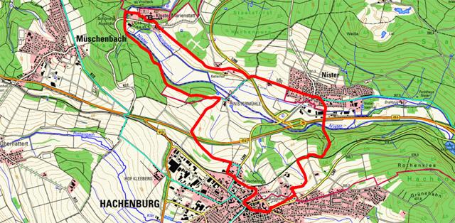 Route Historischer Weg Hachenburg