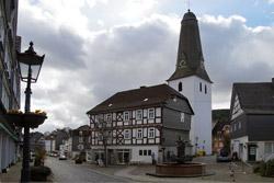 Rathaus und Evangelische Kirche in Bad Laasphe
