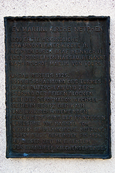 Gedenktafel an Ev. Martini-Kirche