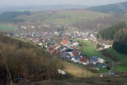 Blick vom Scharn hinunter auf Eschenbach