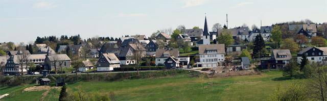 Blick vom Hanseweg auf Altastenberg