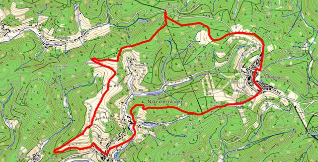 Route Rundwanderung von Nordenau nach Altastenberg
