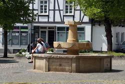 Der Brunnen auf dem Marktplatz
