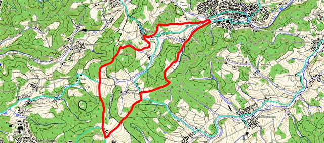 Route Rundwanderung Drolshagen