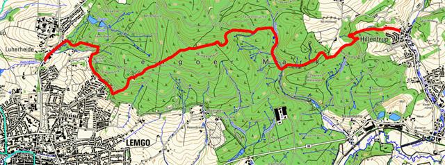Route Hansaweg (X9) – 3. Etappe