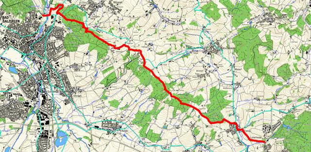 Route Hansaweg (X9) – 2. Etappe