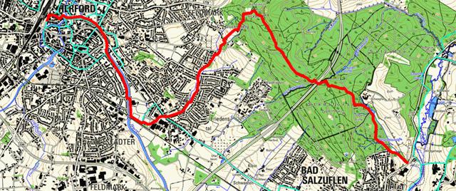 Route 1. Etappe Hansaweg (X9)