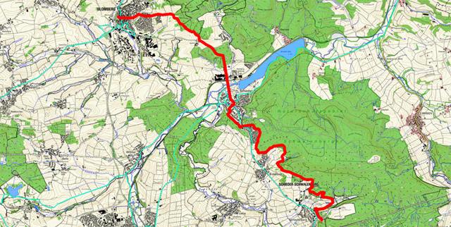 Route Pilgern in Lippe (Ostschleife) – 1. Etappe