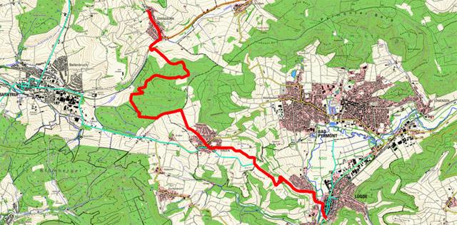 Route Pilgern in Lippe (Ostschleife) – 4. Etappe