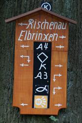 Wegmarkierung im Isenberg