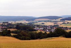 Blick vom Saalberg auf Sonneborn