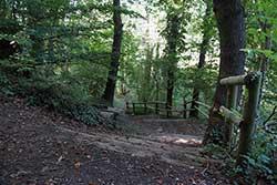 Treppenaufstieg zur Porta-Kanzel