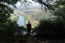 Blick von der Porta-Kanzel über die Weser