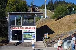 Standseilbahnstation Mühlenkopfschanze (Auslauf)