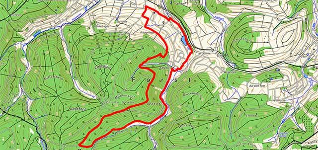 Rundwanderweg W1 zur Mühlenbergschanze