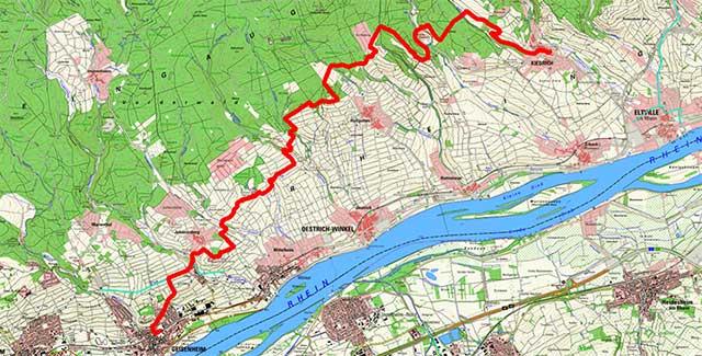 Route Geisenheim-Kiedrich