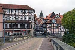 Alte Werrabrücke mit Lange Straße