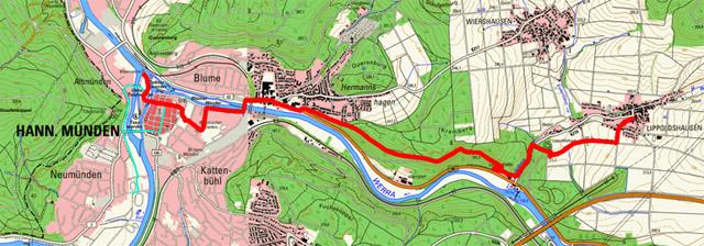 Route Werra-Burgen-Steig – Abschnitt 1