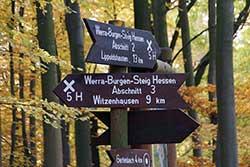 Wanderwegweiser Werra-Burgen-Steig Hessen