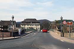 Blick zurück über die Werra-Brücke in Witzenhausen