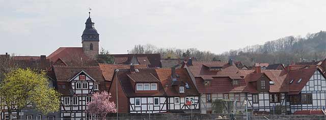 Blick über die Werra auf Witzenhausen