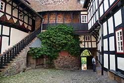 Innenhof der Jugendburg Ludwigstein