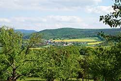 Ausblick von der Jugendburg Ludwigstein nach Oberrieden