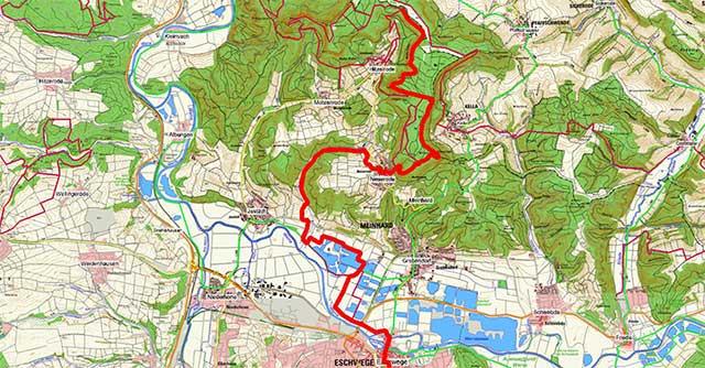 Wegpunkte Werra-Burgen-Steig Hessen – Abschnitt 7