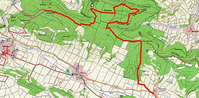Wegpunkte Werra-Burgen-Steig Hessen – Abschnitt 9