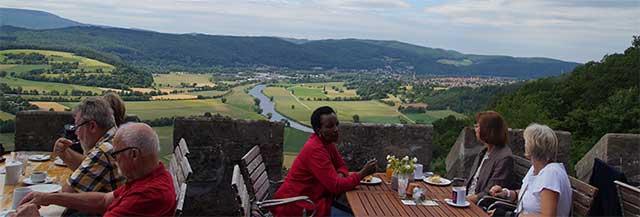 Ausblick vom Schloss Rothestein