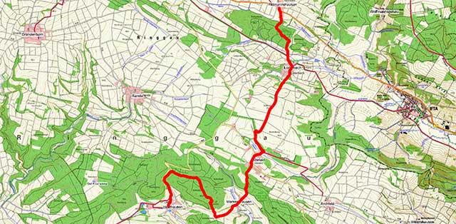 Wegpunkte Werra-Burgen-Steig Hessen – Abschnitt 10