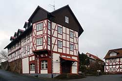 Das Fachwerk-Rathaus in Nentershausen