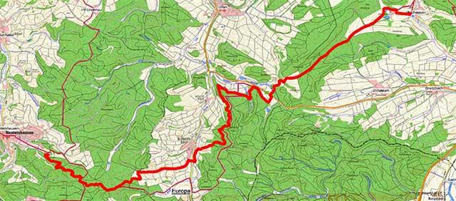 Wegpunkte Werra-Burgen-Steig Hessen – Abschnitt 11