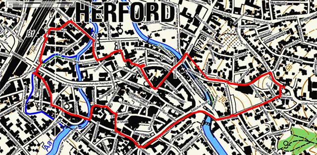 Wegpunkte Stadtrundgang Herford